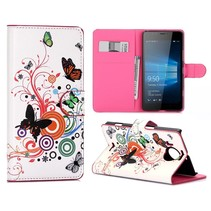 Vlinders Bookcase Hoesje Microsoft Lumia 950 XL