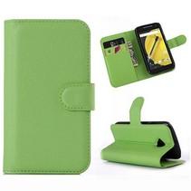 Groene lychee Bookcase hoes Motorola Moto E 2015