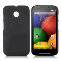 Zwart hardcase hoesje Motorola Moto E