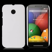 Wit hardcase hoesje Motorola Moto E