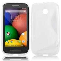 Wit S-design TPU hoesje Motorola Moto E