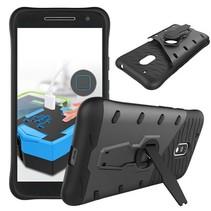 Zwart 2-in-1 Hybrid Hoesje Motorola Moto G4 Play