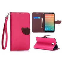 Roze leaf Bookcase hoes Motorola Nexus 6