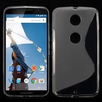 Transparante S-design TPU hoesje Motorola Nexus 6