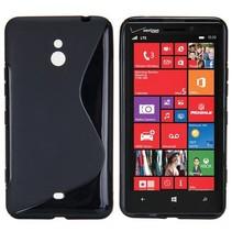 Zwart S-design TPU hoesje Nokia Lumia 1320