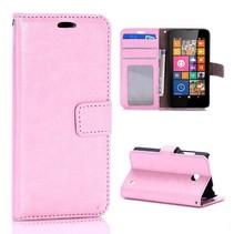 Lichtroze Bookcase hoes Nokia Lumia 630 / 635