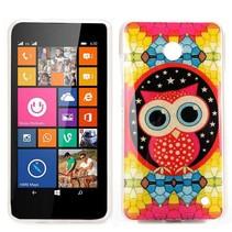 Kleurrijke uil TPU hoesje Nokia Lumia 630 / 635