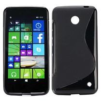 Zwart S-design TPU hoesje Nokia Lumia 630 / 635