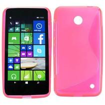 Roze S-design TPU hoesje Nokia Lumia 630 / 635
