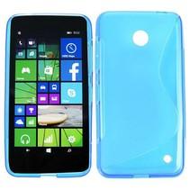 Blauw S-design TPU hoesje Nokia Lumia 630 / 635