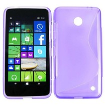 Paars S-design TPU hoesje Nokia Lumia 630 / 635
