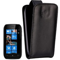 Zwart Flip Case hoesje Nokia Lumia 710