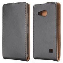 Zwart Flip Case hoesje Nokia Lumia 730 / 735