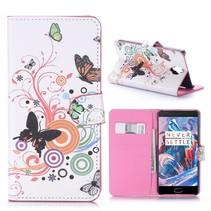 Vlinders Bookcase Hoesje OnePlus 3