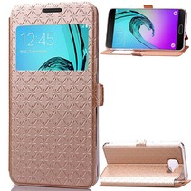 Goud Geruit Venster Bookcase Hoes Samsung Galaxy A3 2016