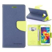 Fancy Diary Blauw Bookcase Hoesje Samsung Galaxy A3 2016