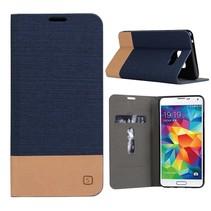 Blauw Duocolor Bookcase Hoesje Samsung Galaxy A3 2016