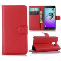 Rood Litchi Bookcase Hoesje Samsung Galaxy A3 2016
