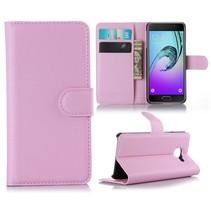 Roze Litchi Bookcase Hoesje Samsung Galaxy A3 2016
