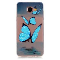 Blauwe Vlinders TPU Hoesje Samsung Galaxy A3 2016