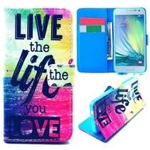 Life quote Bookcase hoes Samsung Galaxy A3