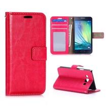 Roze modern Booktype  hoesje Samsung Galaxy A3