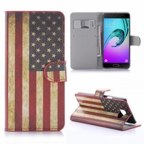 Amerikaanse Vlag Bookcase Hoesje Samsung Galaxy A5 2016