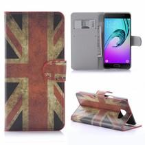 Britse Vlag Bookcase Hoesje Samsung Galaxy A5 2016