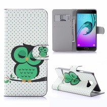Slapende Uil Bookcase Hoesje Samsung Galaxy A5 2016
