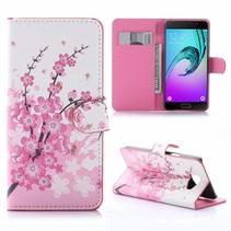 Roze Bloesem Bookcase Hoesje Samsung Galaxy A5 2016