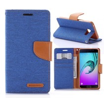 Canvas Series Blauw Bookcase Hoesje Samsung Galaxy A5 2016