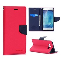 Fancy diary roze / blauwe Bookcase hoes Samsung Galaxy A8