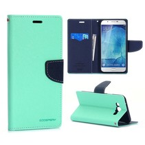 Fancy diary mintgroen / blauwe Bookcase hoes Samsung Galaxy A8