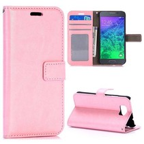 Roze glad Booktype  hoesje Samsung Galaxy Alpha