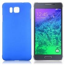Blauw hardcase hoesje Samsung Galaxy Alpha