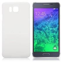 Wit hardcase hoesje Samsung Galaxy Alpha