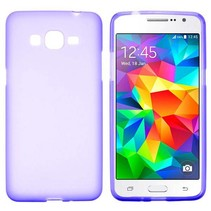 Paars TPU hoesje Samsung Galaxy Grand Prime