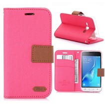 Roze Bookcase Hoesje Samsung Galaxy J1 2016
