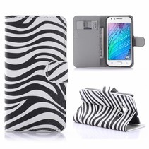 Zebra Bookcase Hoesje Samsung Galaxy J1 2016