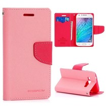 Diary roze Bookcase hoes Samsung Galaxy J1