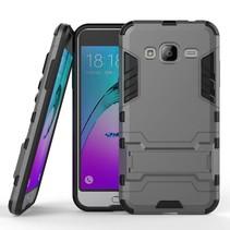 Grijs Armor Hoesje Samsung Galaxy J3 / J3 2016