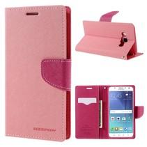 Goospery Roze Bookcase Hoesje Samsung Galaxy J5 2016