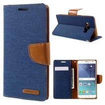 Goospery Blauw Bookcase Hoesje Samsung Galaxy J5 2016