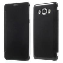 Zwart Mirror Bookcase Hoesje Samsung Galaxy J5 2016