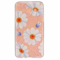 Witte Bloemen TPU Hoesje Samsung Galaxy J5 2016