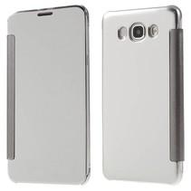 Zilverkleurig Mirror Bookcase Hoesje Samsung Galaxy J7 2016