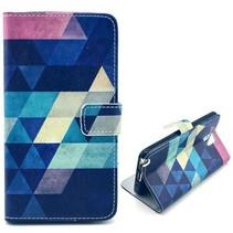 Colorful triangle Bookcase Samsung Galaxy Note 3