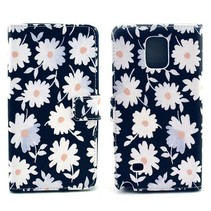 Bloemen Bookcase hoes Samsung Galaxy Note 4