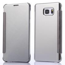 Zilveren clear view Bookcase hoesje Samsung Galaxy Note 5
