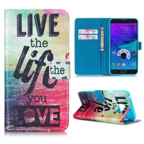 Life quote Bookcase hoes Samsung Galaxy Note 5